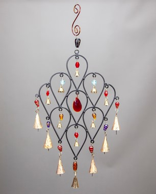 Iron Drop Design Chime With Beads